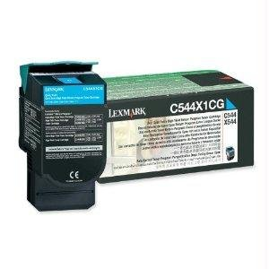Lexmark Lexmark C544/X544 Extra High Yield Return Program Cyan Toner Cartridge - By