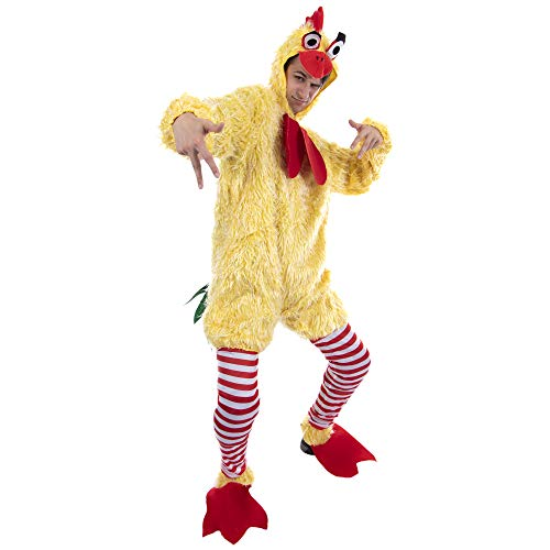Chicken Halloween Costumes For Adults (Funky Chicken Costume - Funny, Silly Unisex Halloween One-Size Suit for)