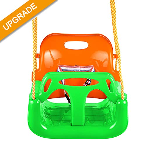 Jaketen 3-in-1 Toddler Swing Seat Hanging Swing Set for Playground Swing Set,Infants to Teens Swing (G)