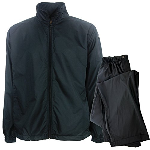 Forrester's Men's Packable Rain Set, Black, (Golf Rainsuit)