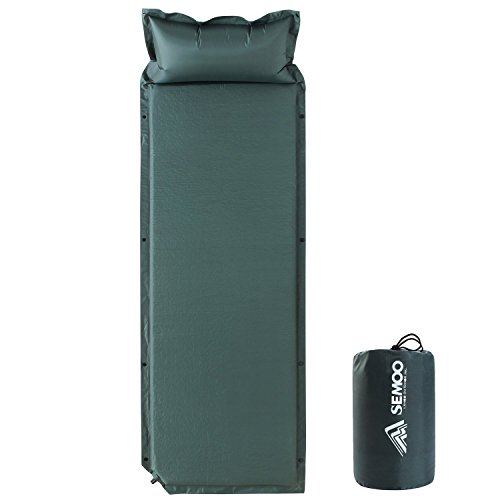 Cheap SEMOO Self-Inflating Camping Sleeping Mat/pad, Lightweight, Water Repellent Coating