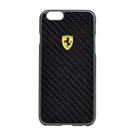 FERRARI Cell Case for iPhone 6+/6S+ - Retail Packaging - Black Mobile Phone Cases & Covers at amazon