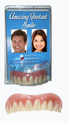 Amazing Instant Smile Cosmetic Novelty Secure Teeth- Medium Size - Fits Most