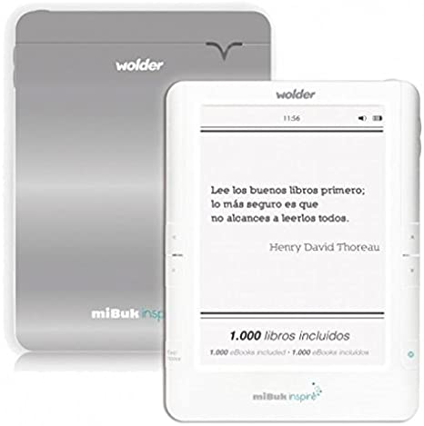 Wolder - Mibuk Inspire 6 e-Ink Pearl WiFi tactil retroiluminado ...