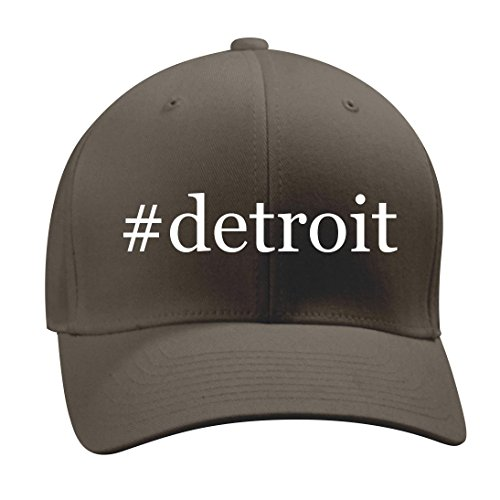 Detroit   A Nice Hashtag Mens Adult Baseball Hat Cap  Dark Grey  Small Medium