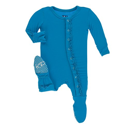 - Kickee Pants Little Girls Solid Muffin Ruffle Footie with Snaps - Amazon, 18-24 Months