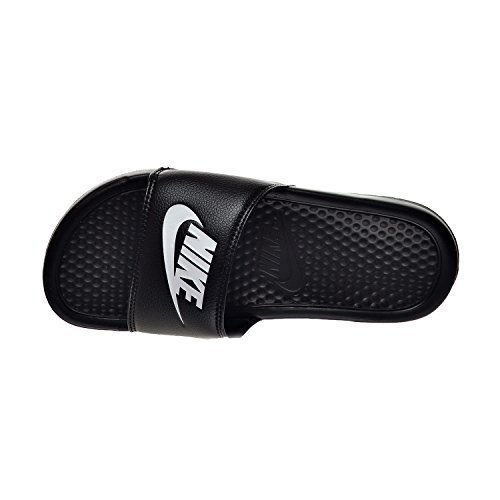 NIKE Benassi JDI Men's Sandals Black/White 343880-090 (10 D(M) US) by NIKE