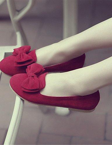 Fleece mujer eu34 de rojo oficina casual la 5 2 amarillo vestido 4 red uk2 y zapatos plano carrera pisos talón comodidad us4 PDX libre 5 al aire negro cn33 wStIq5H
