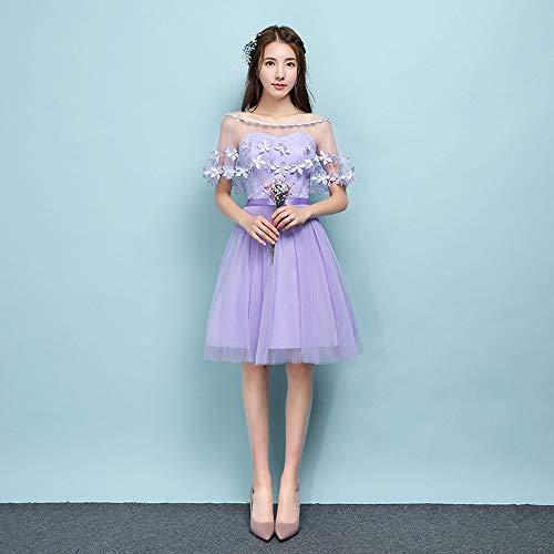 2 Viola stile Dazisen Damigella Moda Corto Vestito D'onore DonnaElegante Abito Festa Principessa Da Tulle dCBerxo