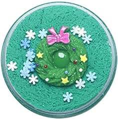 Pausseo 100ML Kids Christmas Snowflake Santa Claus Cloud Slime Mixing Tricky...