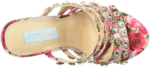 Betsey Johnson Women's Sb-Jovi Heeled Sandal Red/Multi eDnQfFq