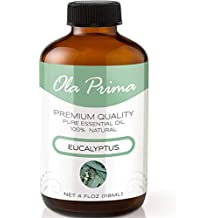 4oz - Premium Quality Eucalyptus Essential Oil (4 Ounce Bottle with Dropper) Therapeutic Grade Eucalyptus Oil