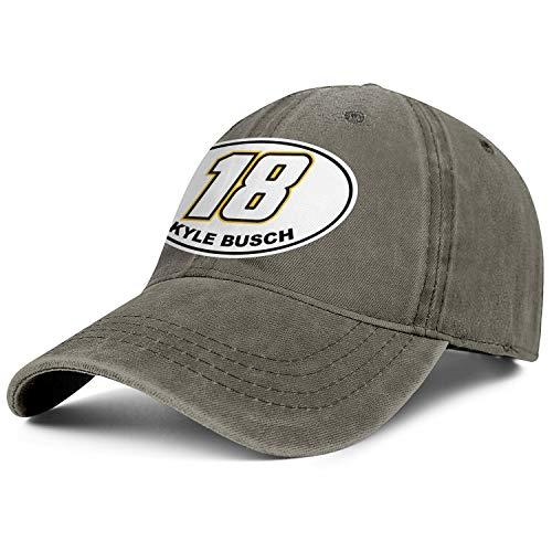 NIANLJHDe Unisex MenSimple Dad Hat Adjustable Kyle-Busch-#18-Logo- Run Baseball Hat -