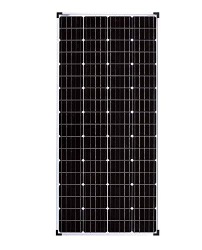 enjoysolar® Monokristallin 36V Solarmodul Solarpanel ideal für 24V Garten Wohnmobil Caravan PV Anlage