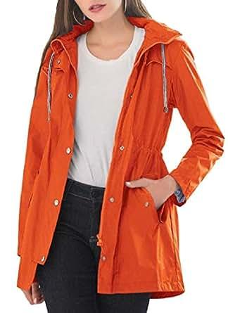 Women Active Lightweight Outwear Hooded Outdoor Jacket Coat 1 XS