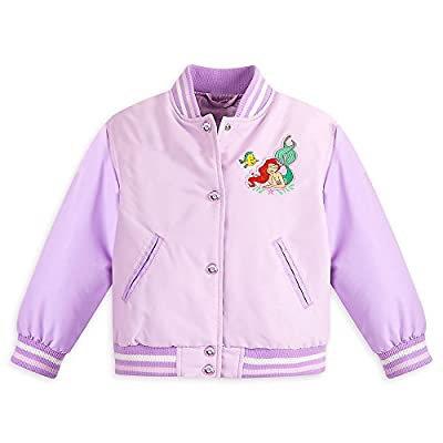 Disney Girls Ariel Varsity Jackets Purple