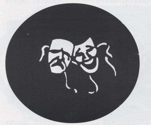 Stencil Comedy/Tragedy,Steel -