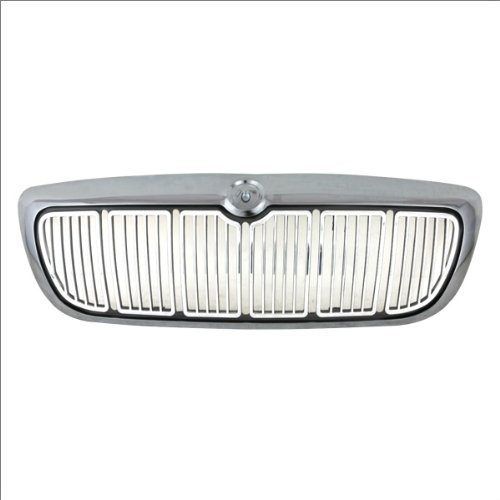 Grill Grille Surround Chrome - CarPartsDepot, Front Chrome Grille Grill Vertical Bar Frame Black Surround Body Assembly Sedan 4-Dr, 400-33881 F8MZ8200AA FO1200353 by CarPartsDepot