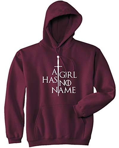 Mars NY Unisex A Girl Has No Name Hoodie - Funny Halloween Sarcastic Ironic Adult Hoodie (Maroon, XXL) ()