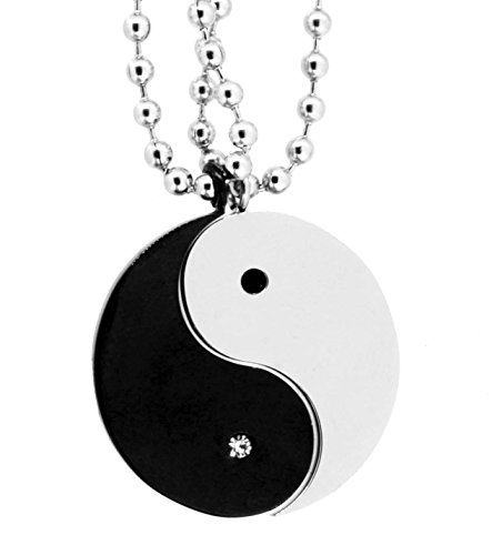 Yin Yang Pair of Necklaces, Couple Neckl