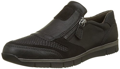 Hush Puppies Ladies Rozip Flat Noir (noir)