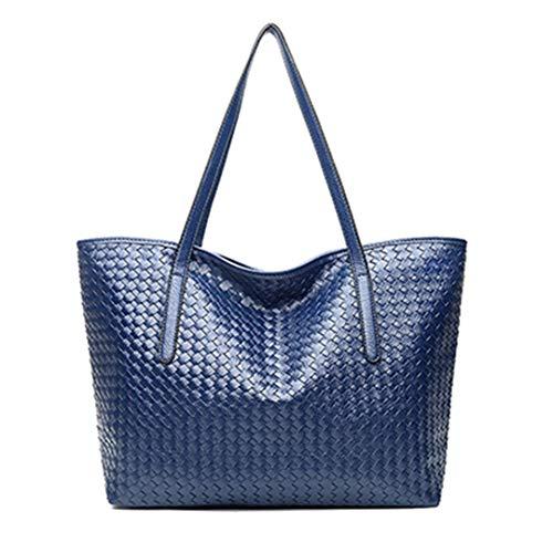 tracolla a blu PU capacità tracolla 46cm in Borsa Famosa di a nera donna a borsa grande forma da pelle morbida IpcHw4Hqa