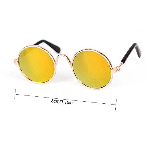 de para de Perros Amarillo Gatos para Metal Sol Circulares de Princesa Perro o Gato Chihuahua de Pequeños Sol Clásicas FOONEE Gafas Protectoras UV Gafas CA7zx7wXq