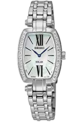 Seiko Mother of Pearl Dial Stainless Steel Quartz Ladies Watch SUP283