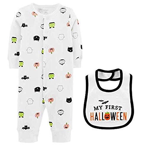 Cartersx My First Halloween Outfit - Bib and Sleep & Play Bundle Size Unisex (Size -
