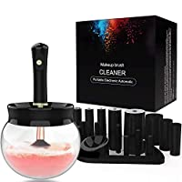 Premium Makeup Brush Cleaner Dryer Super-Fast Electric Brush Cleaner Machine Automatic Brush Cleaner Spinner Makeup Brush Tools (Black)