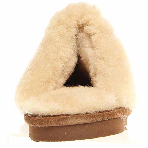 Bearpaw Kvinna Loki Ii Slide Toffel Hickory-mocka