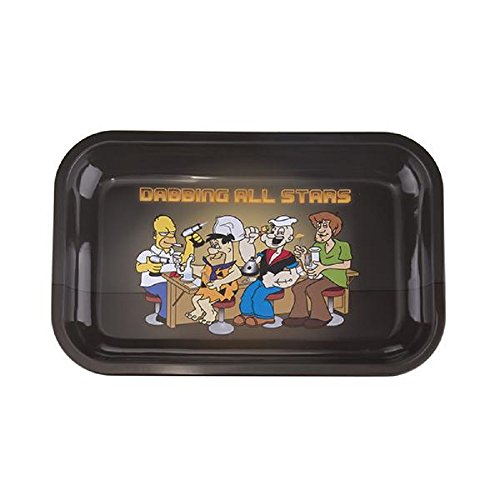 Rolling Tray Metal Tobacco Joint Funny Trays for Weeds (Medium) by Simply Works