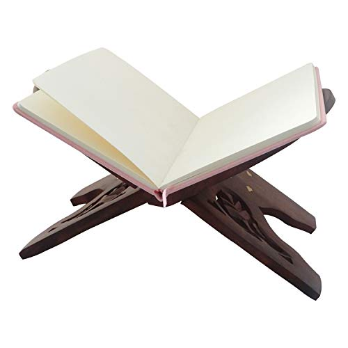 - IndiaBigShop Large Beautiful Folding Holy Book Stand / Rehal Book Beautiful Quran Bible Holder Stand 13 Inch
