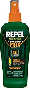 Repel 94101 6-Ounce Sportsmen Max Insect Repellent 40-Percent DEET Pump Spray, Case Pack of 1