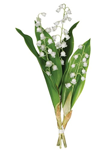 The Of Bouquet Lily Valley (Sullivans White Lily of the Valley Bouquet Plastic Artificial Plants)