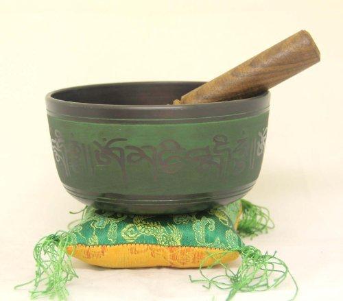Tibetan-GOLD-Healing-CHAKRA-SYMBOLS-Singing-Bowl