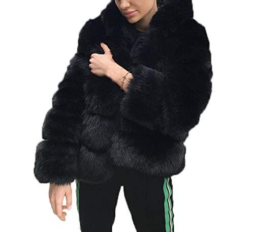 Tops Casual Cime Coat Moda Donne Giubbotto Maglione Hoodie In Pelliccia Sintetica Con Cappotto Lunga Termica Giacca Giacche Outerwear Inverno Cappuccio Parka Manica Corto Autunno 34RjAL5