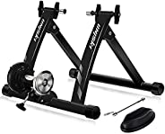 unisky Bike Trainer Stand Indoor Riding Steel Bicycle Exercise Stand with Noise Reduction Wheel Magnetic Stati