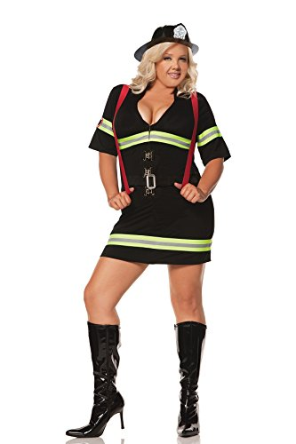 Plus Size Women's Hot Firefighter Costume