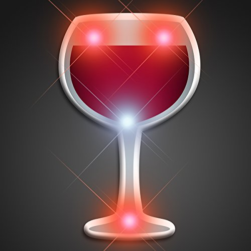 Light Up Pins - Light Up Wine Glass Flashing Blinking
