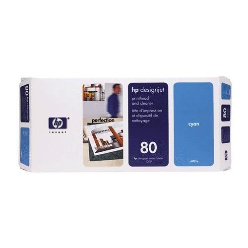 HEWC4821A - HP 80 Cyan Printhead/Cleaner