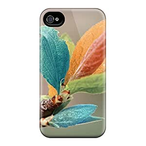 Hot New Multicolor Leafs Case Cover For Iphone 4/4s With Perfect Design