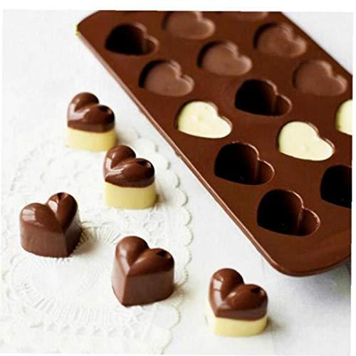 Non-stick Siliconen Chocolade Mallen Liefde Hartvormige Jelly Ice Mallen Cake Mould Bakvormen Gereedschap