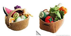 Ikea Duktig Children's 9 Piece Fruit Basket Set and 14 Piece Vegetable Set