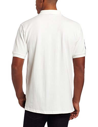U.S. Polo Assn. Men's Solid Short Sleeve Pique Polo, Antique White, Large