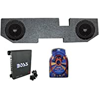 2 ROCKFORD R2D2-10 10 Inch Subwoofers + Dodge Ram 02-15 Box + Mono Amp + Wiring