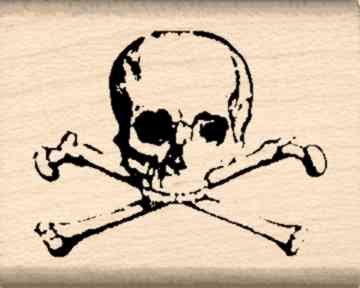 Stamps by Impression ST 0162 Skull and Crossbones Rubber Stamp (Skull Stamp)