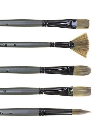 Robert Simmons Titanium Brushes Long Handle Single Stock 12 filbert TT42