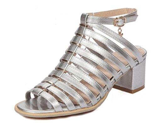 34 Anti Ceinture dérapant 40 Chaussures Sliver Les 6cm Jours Tous Talon Romaines Femme Sandales Shopping 41 fête Fine Confort xie Haut xwTCSfzf