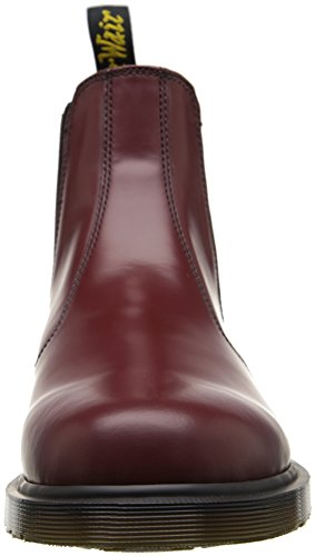 Dr. Martens 2976 Chelsea Bota, Negro Smooth Cherry Red